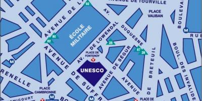 Mapa unesco-Pariz